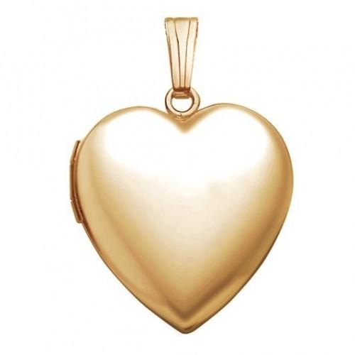 14k Gold Filled Classic Heart Photo Locket