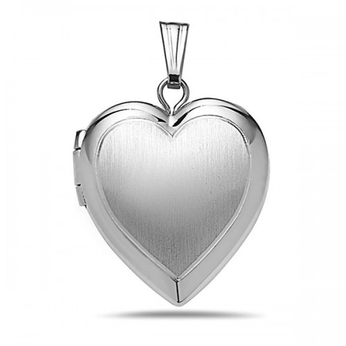 Sterling Silver Small Heart Photo Locket