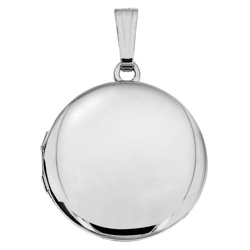 Sterling Silver Round Photo Locket