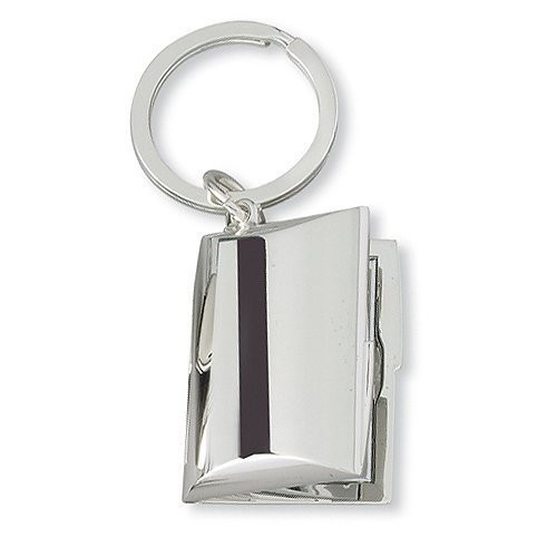 Silver Plated Rectangle Keychain Photo Locket