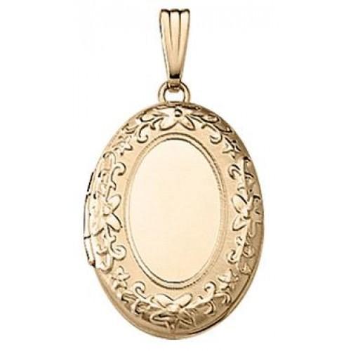 Gold Filled Oval Locket- Rebecca
