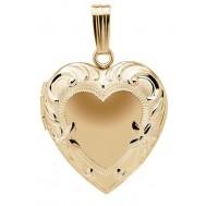 14k Gold Filled Floral Heart Locket - Juliet