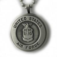 Silver U.S. Air Force Round Locket