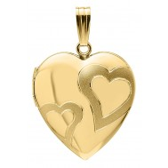 14K Gold Filled Heart Locket