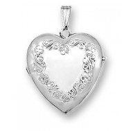 14K White Gold Heart Four Photo Locket