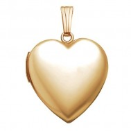 14k Gold Filled Classic Heart Photo Locket