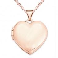 14k Rose Gold Classic Heart Photo Locket