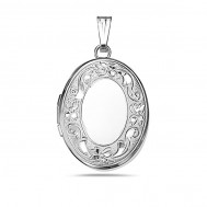 Sterling Silver Oval Small Photo Locket