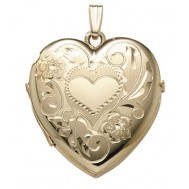 14K Gold 2 Picture Heart Locket - Darla