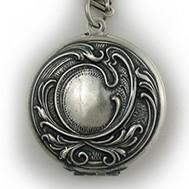 Silver Antique Round Locket - Sadie