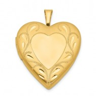 14k Gold Filled Small Heart Floral Heart Photo Locket