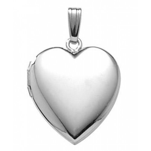 14k White Gold Heart Locket - Claire