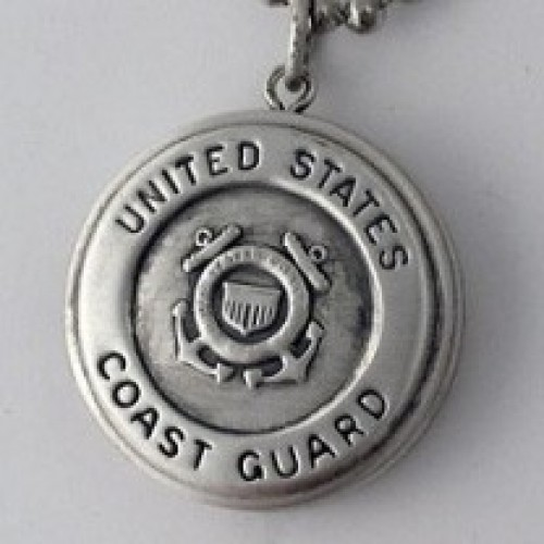 Silver U.S. Coast Guard Round Locket