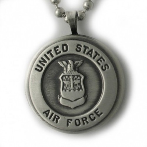 Silver U.S. Air Force Round Locket