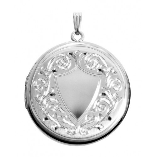Sterling Silver Round Locket - Dianah