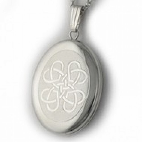 Sterling Silver Celtic Locket - Love Knot