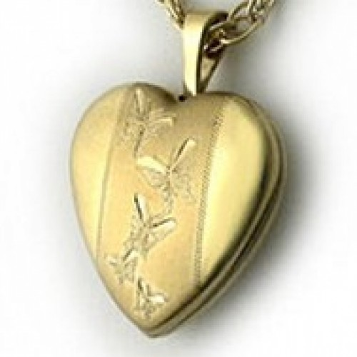 14k Gold Filled Locket with Small Butterfly
