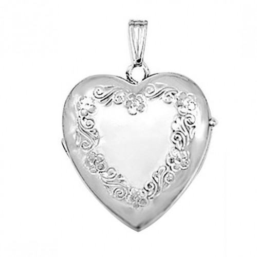 Petals Sterling 4 picture Heart Locket